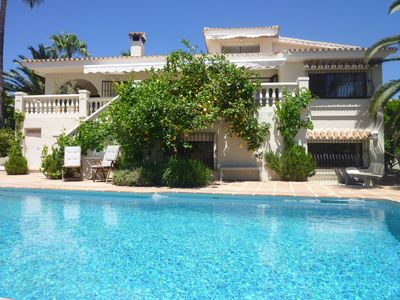 Photo for Ideal For Families, Large Pool, Sea Views, 400m: Sandy Beach, Sleeps 8 Plus Baby