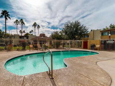 Photo for Charming condo w/ shared pool, & furnished balcony - in great location!