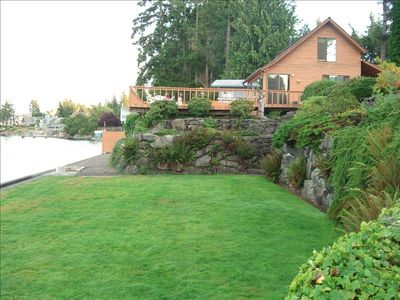 lower lawn of Beach House
