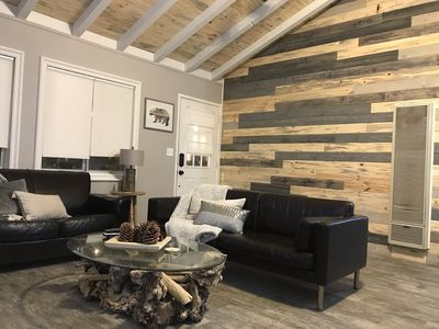 Photo for Modern Cabin with Hot Tub, Walk to the Slopes!