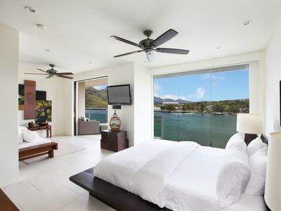 Photo for Amazing oceanfront property perched on the Kalapaki Cliff w AC!