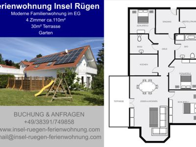 Photo for Modern family apartment on Rügen in Altenkirchen Baltic Sea free Wi-Fi