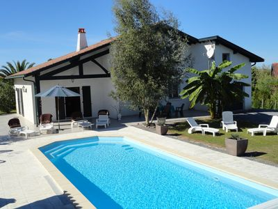 Photo for VILLA WITH HEATED POOL, Near Biarritz and St. Jean de Luz,