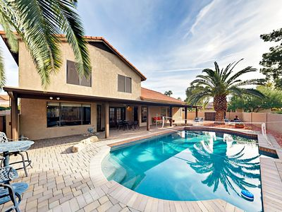 Photo for Private Backyard Oasis w/ Pool, Games & BBQ - Near Mayo Clinic & Phoenix Open