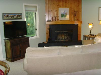 Photo for Upscale end unit main floor condo near GRAND TETONS, world-class skiing, Snake