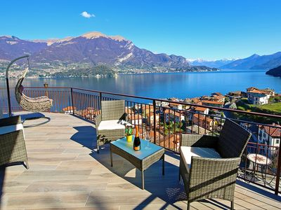 Photo for 5 KM FROM BELLAGIO SPLENDID APT, LAKE VIEW, TERRACE AND GARDEN! ORCHID