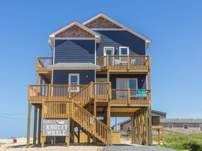 Photo for The Knotty Whale - Fresh 4 Bedroom Oceanside Home in Rodanthe