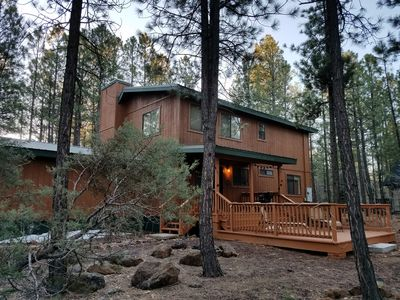 Photo for Blue Lake cabin on an amazing lot full of tall Ponderosa pines