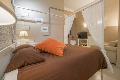 our master suite, with air conditioning and private bathroom