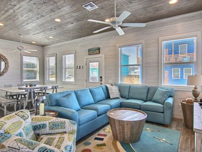 Photo for The Beach Buoy: Private Pool, Block from beach, 3 Master Bedrooms, Ocean air