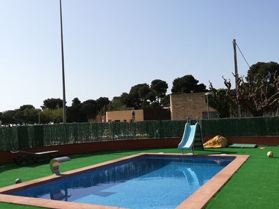 Photo for Platja d Aro Apartment ground floor with terrace and community pool