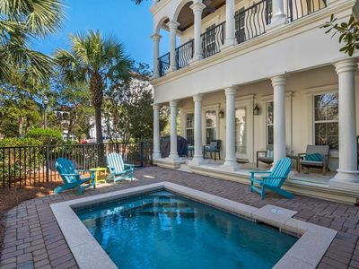 Photo for Beautiful Beach Home w/ Private Pool-Gulf Views -150 Yards to Beach-Walk to Shops and Restaurants!!