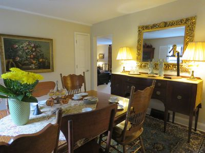 First Floor of the Cottage; Dining room table can be extended, seating for 6