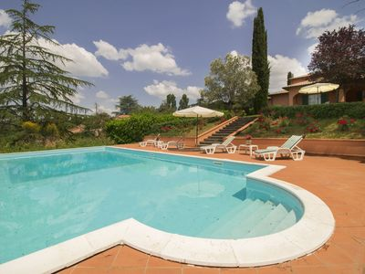 Photo for Stunning private villa with WIFI, private pool, hot tub, TV, balcony, pets allowed and parking