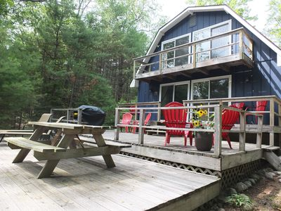 Photo for Cub Hill Cottage on Cub Lake - NEW! PRIVATE LAKEFRONT WITH HUGE OUTDOOR DECK!