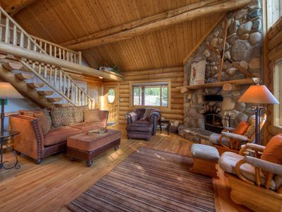 Photo for True Montana Cabin. Surround By Pine Trees, Enjoy This Private Vacation Escape!