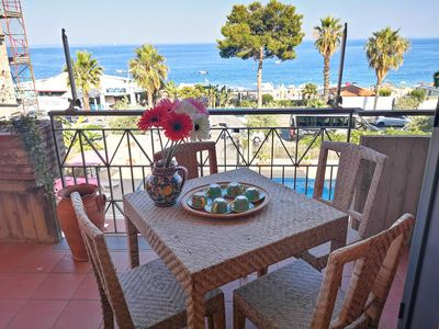 Photo for Taormina by the sea, Casa Corallo (sea at 10 meters - private parking)