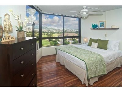 Photo for Enjoy cool trade winds and spectacular mountain views across the golf course