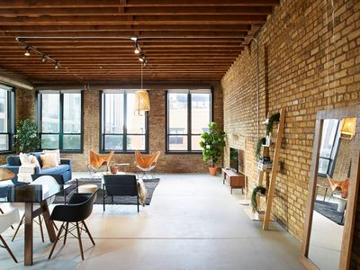 Photo for Stunning Designer Loft in Fulton Market, Sleeps 24