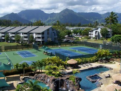 Photo for Beautiful Kauai 1 BR, 2 Ba condo with an ocean view from the lanai. Sleeps 4