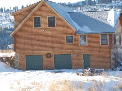 Photo for Bozeman area Log Home On 22 Acres With Mountain and Forest Views and Access