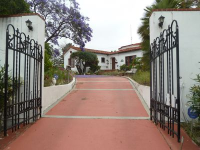 Photo for Historic grand estate in 1 acre; flower garden salt water swimming pool, orchard