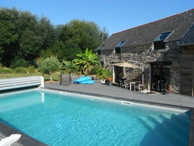 Photo for dead end PAISIBLE, private pool, not overlooked, SEA and COUNTRYSIDE 3000m2 garden