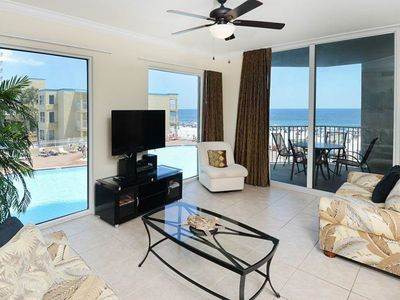 Photo for Expansive corner condo w/marvelous ocean views, hot tub, two pools, and more!