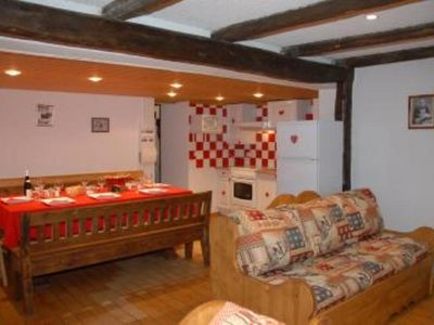 Photo for large  flat 80 m2, 4 rooms, near the ski runs
