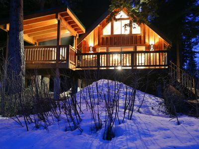 Photo for Osprey Nest Cabin:  Cozy private cabin on the Wenatchee River with Hot Tub