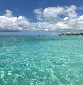 The turquoise waters of Grace Bay, consistently rated a Conde Nast top beach.
