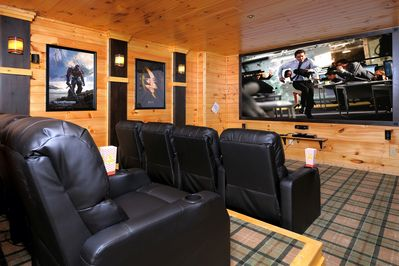 100's of DVD's to choose from as well as premium channels on direct t.v.