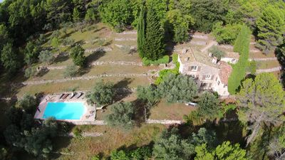Photo for Beautiful old stone villa with private pool & spectacular view, very peaceful
