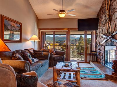 Photo for Ski-in Breckenridge Condo with On-Site Hot Tubs, 1 Block to Downtown, Stunning V