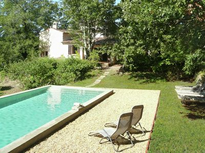 Photo for Beautiful holiday villa with privat pool surrounded by vineyard in Entrecasteaux