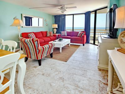 Photo for Gorgeous South Tower Oceanfront  3BR/2 BA with amazing views & newly decorated!!
