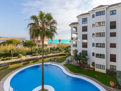 Photo for 3 bedroom, 2 bathroom, pool, gardens, access to the beach