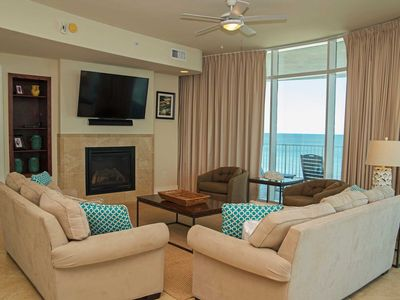 Photo for Low FLoor Corner condo ~ Sleeps 14 ~  Turquoise Place 709C ~ Lazy River ~ Balcony Hot Tub/Grill