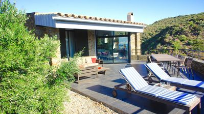 Photo for A charming family house with private pool in Cadaques with sea views.