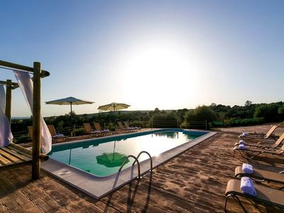 Photo for Natural stone villa with pool and sea view - Villa Puntiro