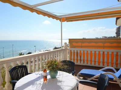 Photo for Stunning panoramic Mediterranean views from large terrace in Benalmadena