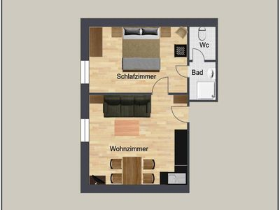 """Photo for Holiday apartment """"Seespitz"""" / 1 bedroom / shower, WC - baby and children's farm Riegler"""