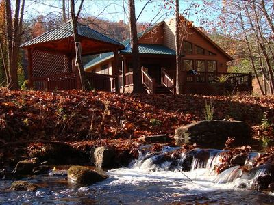 Photo for Cabin & Hot Tub on Rushing Trout Stream in the Great Smokey Mountains