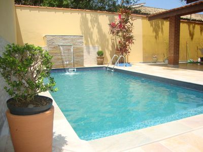 Photo for Excellent house with 2 suites and 1 bedroom, swimming pool, barbecue and prox. from the sea