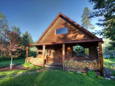 Photo for WALK TO LAKE & DOWNTOWN - PRIVATE REMODELED LOG CABIN
