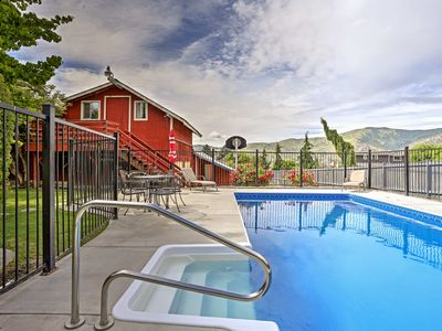 Photo for Manson Farmhouse w/ Mtn Views, Fire Pit & Pool!
