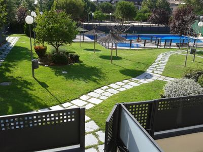 Photo for Madrid - Amazing flat with garden, paddle tennis court and swimming pool