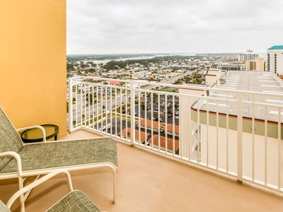 Photo for Beautiful beachfront condo with floor to ceiling windows and shared pool access!