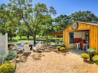 Photo for 'Texas Roots' 3BR Fredericksburg House w/Hot Tub!