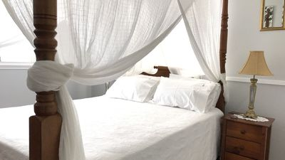 Beautiful, handcrafted four poster queen size bed